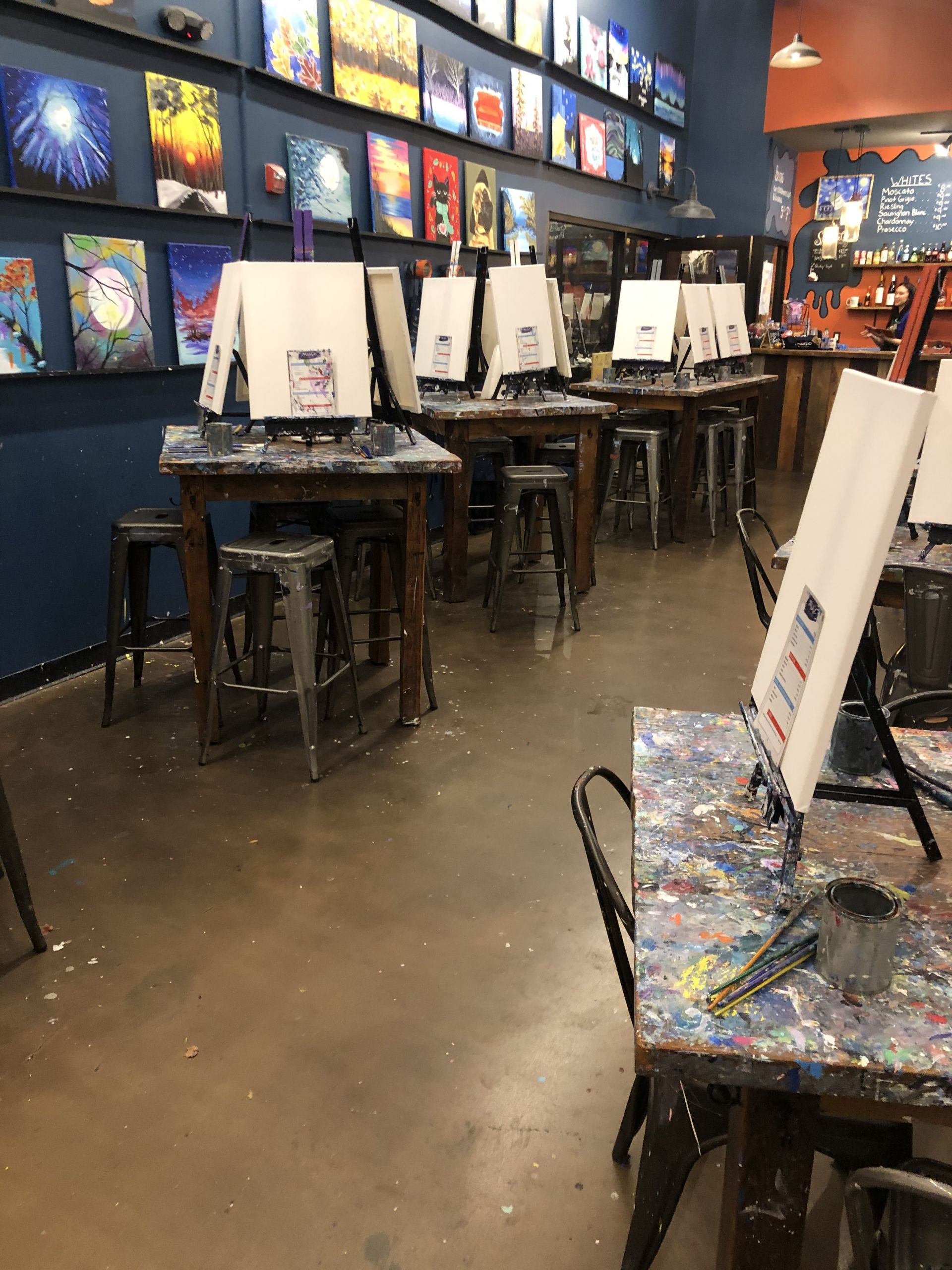 Paint and Sip Class – A Lesson in Going with the Flow
